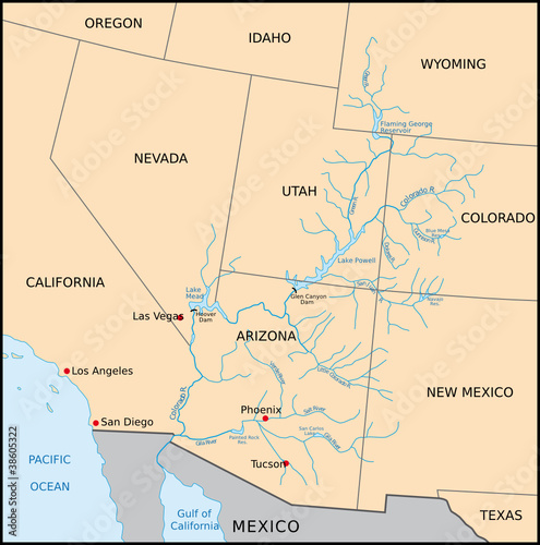 Colorado Karte Fluss.Colorado River Stockfotos Und Lizenzfreie Vektoren Auf