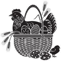Easter woodcut