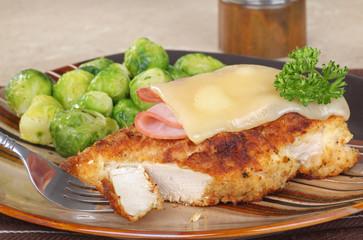 Stacked Chicken Cordon Bleu
