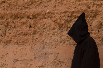 ethnic dress moroccan man in marrakech