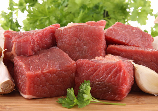 raw beef
