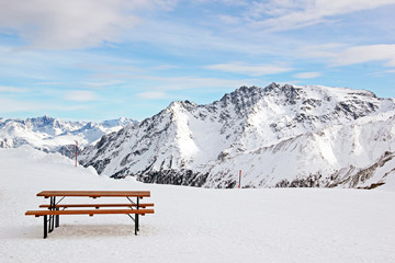 Fototapete - mountains in winter