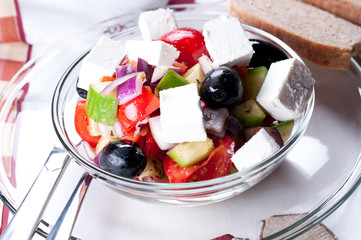 Mediterranean salad with goat cheese
