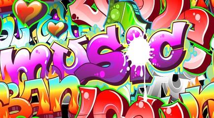 Graffiti Urban Art Background. Seamless design