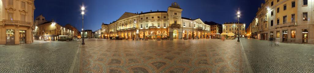 Fotobehang Artistiek mon. Aosta, Piazza Chanoux a 360 gradi