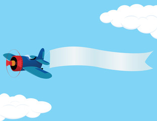 Printed roller blinds Airplanes, balloon plane_banner