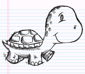 Notebook Doodle Sketch Turtle