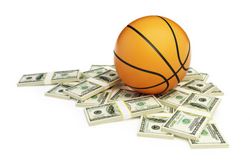 basketball ball dollar