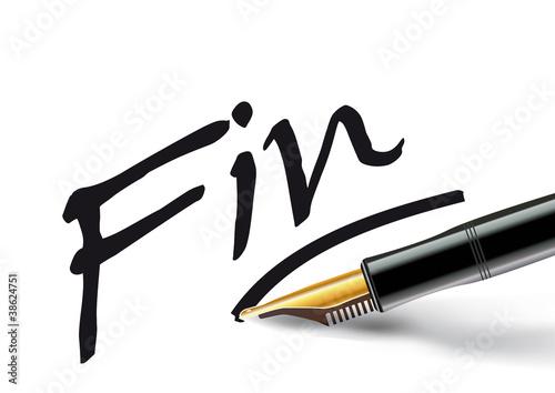 Vektör: stylo_plume_fin