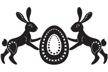 pair of easter hares
