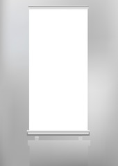 roll up banner display,free copy space, vector fromat