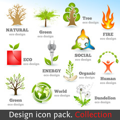 Design 3d color icon set. Design elements