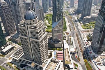 Quartier de Lujiazui vu du ciel - Shanghai (China)