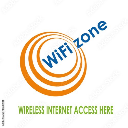 quotlogo wifi zone vectorquot stock image and royaltyfree