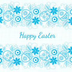 blue background Easter motif