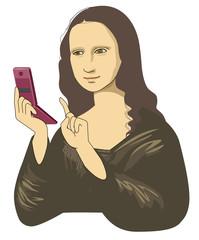 Mobile phone of Mona Lisa