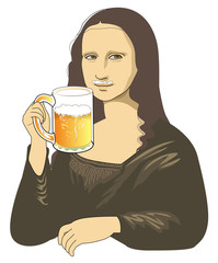 Draft beer of Mona Lisa