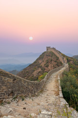 Wall Murals Dragons great wall with sunrise