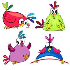 cartoon parrot collection.vector bird