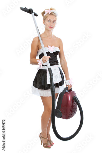 Quot Young Sexy Maid With Vacuum Cleaner Quot Stock Photo And