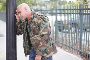 Restless veteran soldier