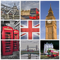 Photo collage London - UK