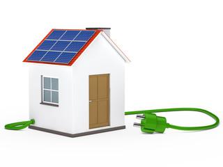 solar house with plug