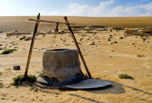 Water well in Oman Desert