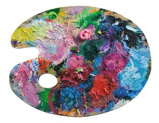 Wooden artist's palette