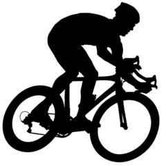 Cyclist on a race