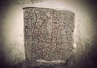 Ancient rune stone