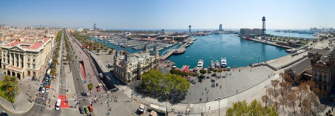 Panorama view of Barcelona