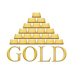 Pyramide de lingots d'or