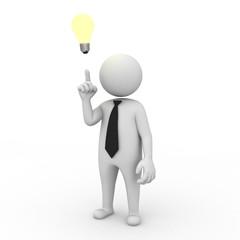 Businessman with idea lightbulb