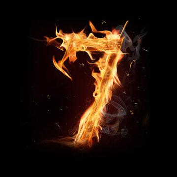 "Fire alphabet number ""7"""