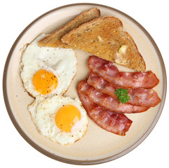 Aluminium Prints Egg Bacon, Eggs & Toast