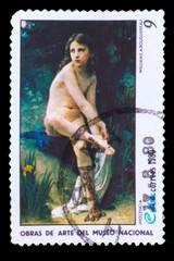 CUBA - CIRCA 1980: A stamp printed in CUBA, show artist Williams