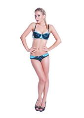 Sensual young woman with beautiful body posing