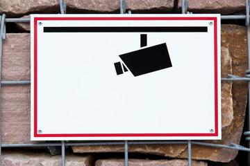 Schild Überwachung