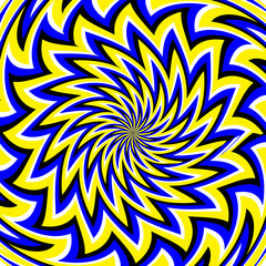Wall Murals Psychedelic Blooming Magic (motion illusion)