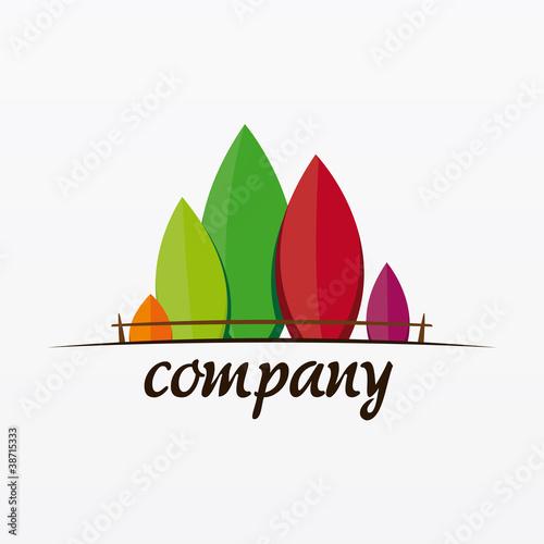 Logo jardin fichier vectoriel libre de droits sur la for Logo jardin