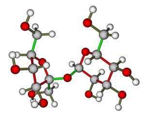 Sucrose molecular structure