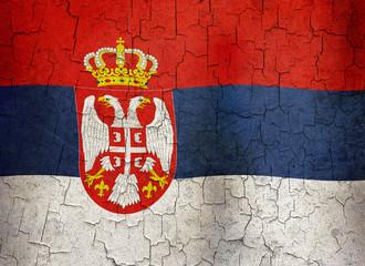 Grunge Serbia flag