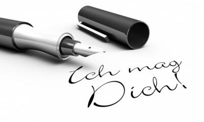 Ich mag Dich! - Stift Konzept