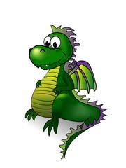 Fairy tale dragon - vector illustration.