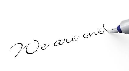 Stift Konzept - We are One!
