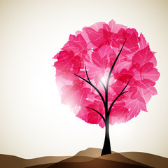 valentine tree, abstract background