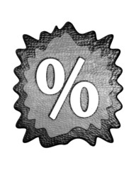 3d metal procent mark