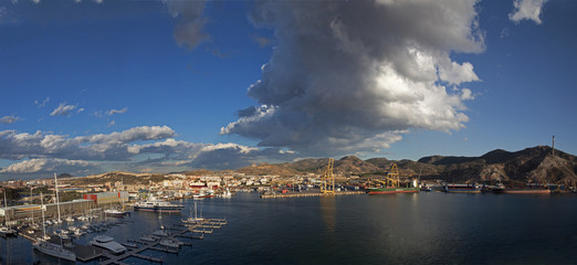harbour at Caragena, spain