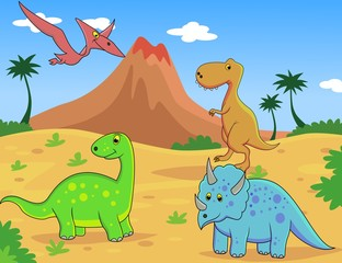 Poster Dinosaurs dinosaurus